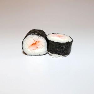 Maki langostino con queso