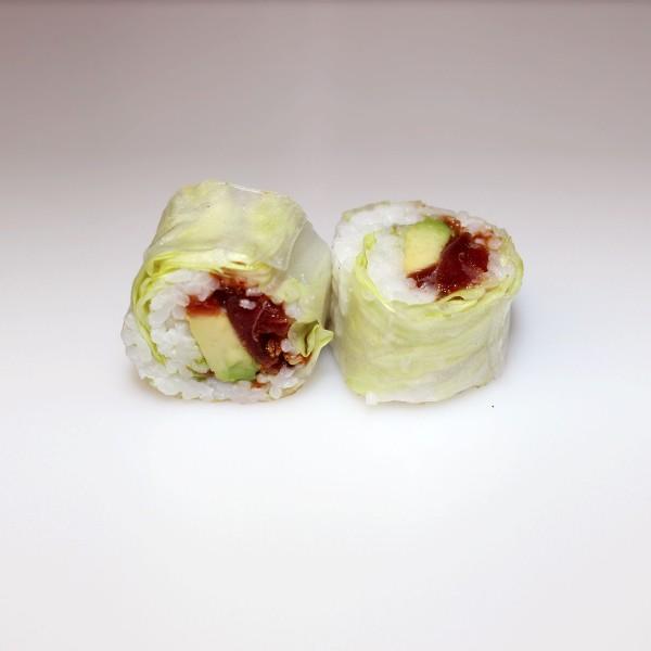 Lechuga atún picante roll
