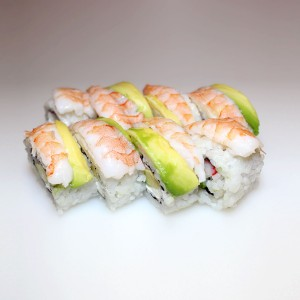 Langostino y queso California roll